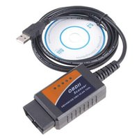 Wholesale Can Bus Interface Usb - Wholesale-ELM327 V1.5 OBD2 CAN-BUS USB Cable Interface Car Diagnostic Scanner Tool