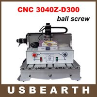 Wholesale Milling Spindles - CNC Router 3040Z-D300 Milling machine with ball screw and 300W DC power spindle, upgraded from CNC 3040