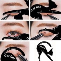 ingrosso stampi per eyeliner-Stencil per il trucco dell'eyeliner. Easy Cat Eye in Second