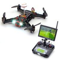 Wholesale Monitor Hd Fpv - New Eachine Racer 250 FPV Drone w  Eachine I6 2.4G 6CH Transmitter 7 Inch 32CH Monitor HD Camera RTF