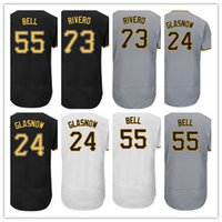 Wholesale Bell Shorts - 2017 Pittsburgh Jerseys Flex base Baseball 73 Felipe Rivero 24 Tyler Glasnow 55 Josh Bell Jerseys Team White Black Grey Stitched