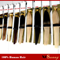 Blonde black hair bonding - XCSUNNY I Tip Fusion Hair Extensions quot quot Natural Hair Extensions Keratin g s g pc Stick Indian Remy Human Hair Extension