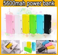 5600mAh Universal Portable Power Bank Parfum 5600 mAh Emergency batterie de secours externe Banks Chargeurs Power Pack pour téléphone mobile iphone