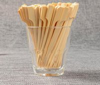 Wholesale Grill Pieces - 2000 Pieces 10.5cm Natural Bamboo Picks Skewers for BBQ Appetizer Snack Party Cocktail Grill Kebab Barbeque Sticks Free Shipping