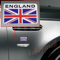 Wholesale Uk Decals - Universal Chrome Aluminum Vehicle Car Decorate Decal Sticker UK Britain Nation Flag Logo Badge Emblem Trim Accessories