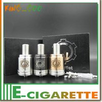 Wholesale E Cig Bats - Gauntlet rda Atomizer ss, brass, black e cigarette fit 510 mods AR king paragon mod vs mutation x bats AIREK e cig Gauntlet