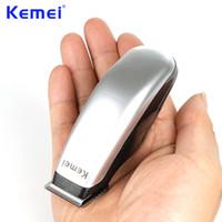 berber için ustura toptan satış-Kemei Yeni Tasarım Elektrikli Saç Kesme Mini Saç Düzeltici Kesme Makinesi Sakal Berber Jilet Erkekler Için Stil Araçları KM-666