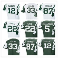 Wholesale Golf Matt - Women Youth Men's Jersey #5 Christian Hackenberg 12 Joe Namath 22 Matt Forte 33 Jamal Adams 87 Eric Decker Jerseys