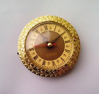 Wholesale Clock Parts Wholesale - Gold Insert Clock Clock Head 92mm Clock Parts Accessories for Carft Clock Free Shipping