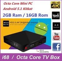 Wholesale I68 Wholesale - I68 TV Box RK3368 S912 Octa Core 64bits Android 5.1 6.0 2GB 16GB Bluetooth H.265 4K Smart Mini PC