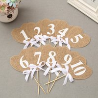 Jute Свадебный торт Topper Marriage Anniversary Table Number Rhinestone Crystal Birthday Party Decoration Kids Supplies Craft