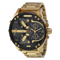 Wholesale Topping Display - Sports Mens Watches Big Dial Display Top Brand Luxury watch Quartz Watch Steel Band DZ7333 Fashion Wristwatches For Men 7311 7312 7313 7315