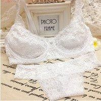 Wholesale Plug Panties - Wholesale-Free Shipping 2015 fashion New Women seamless push up Sexy Bra Sets BRA brassiere plug Hollow out Panties Lace set underwear