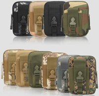 Wholesale military bags for sale - Universal Outdoor Tactical Holster Military Molle Hip Waist Belt Bag Wallet Pouch Purse Phone Case with Zipper Fanny Pack Pocket