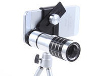 teleskopaugen großhandel-Neue Ankunft Fisheye Lentes Para Celular Fischauge Telefon Kamera 12x Zoom Teleskop Objektiv Mobile in kleinkasten