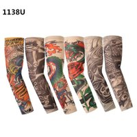 Venda por atacado - Hot Sales 6pcs / pack Arm Warmers Camouflage Cuff Braço Sleeve UV Sunscreen Flower Printed Arm Sleeves