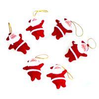 meilleur sapin rouge achat en gros de-30pcs / lot Meilleure qualité Décoration de Noël, Père Noël rouge pour arbre de Noël Ornamet, 6 couleurs Fournitures de Noël pour Noël