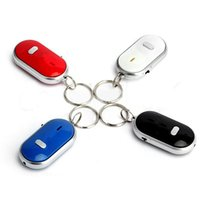 Самый новый Anti-Lost светодиодный ключ Finder Найти Locator Keychain Whistle Beep Sound Control Torch