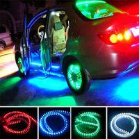 Wholesale 72 led light bar - LED Car Strip Light Car Light Bar Lamp Flexible LED Strips Waterproof PVC Light Strip DC12V LED Strip 24 48 72 96 120cm