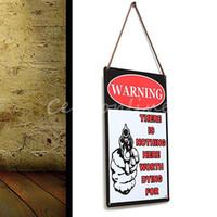 Wholesale Garage Wall Vinyl - Brand New Decor Tavern Garage Tin Sheet Metal Sign WARNING Vintage Picture LD417 Decor Home Wall Decor Garage home Wall Decor order<$18no tr
