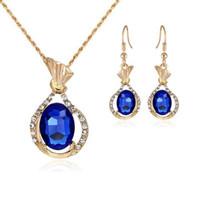Wholesale Diamond Fish Jewelry - Fish shaped Diamond Jewelry Set Necklace Earrings Set