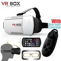 Wholesale Andriod Cases - 3D Glasses VR BOX Professional Google andriod Cardboard Polarized Virtual Reality Head mounted Case Phone + Bluetooth Controller Gamepad DHL