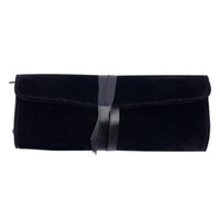 Wholesale Roll Up Storage Bags - Fashion Jewelry Bags Black Color Pouches Flannel Jewelry Pouch Travel Jewelry Roll Make Up Bag Storage Cosmetic Cases