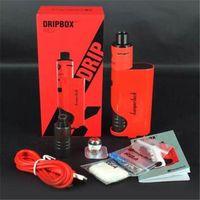 Wholesale Drip Tips Black - Kanger Dripbox Starter Kit clone with KangerTech 7ml Subdrip Tank Max 60w Output Dripmod Box Mod Wide Bore Drip Tip