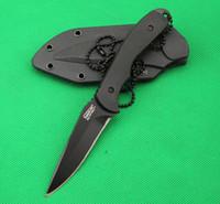 кемпинговые ножи из фарфора оптовых-Китай сделал США Timberl прямой нож, 5cr13mov 56hrc лезвие, черная ручка, открытый кемпинг туризм выживания фиксированной лезвие ножи