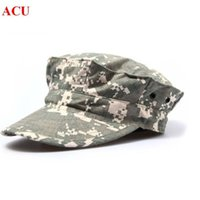 Wholesale Patrol Cap Camo - Wholesale-Tactical Gear Army Hats USMC Military Patrol Cap Hat ACU Camo Pattern Outdoor Hunting Products Free Shipping