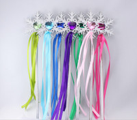 Wholesale Wholesale Fairy Wands - Fairy Wand ribbons streamers Christmas wedding party snowflake gem sticks magic wands confetti party props decoration events favors Supplies