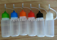 Wholesale Electronic Cig Bottles - Factory 10ml (1 3 oz) Plastic Dropper Bottles With Needle Caps & Safe Tips LDPE For E Cig CE4 Protank Vapor Vape Liquid electronic cigarette
