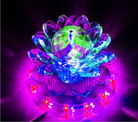Wholesale 6W Voice Controlled Auto Rotating Lotus Party Stage Lamp LED RGB mix Color Light Transparent