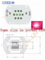 Wholesale Cree Xpe Grow Light - 30W Cree XPE XP-E Led Emitter Bulb Red(8PCS)+ Blue(2PCS) Mix Color Multichip Plant Grow Light DIY Emitter 24-26V 350mA~1000MA