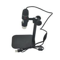 loupe pour microscope numérique usb achat en gros de-Gros-pratique Electronics 5MP USB 8 LED Appareil photo numérique Microscope Endoscope Loupe 50X ~ 500X Grossissement Mesure recherche chaude