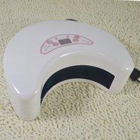 Wholesale Gel Nail Uv Lamp 18w - Professional Long Life Moon Shape 220-240V 18W UV Lamp Led Nail Dryer Nail Art Care Machine Curing UV Gel Polish (Euro Plug)