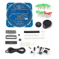 Kit De Reloj Led Baratos-DIY DS1302 giratorio LED reloj electrónico digital Kit 51 SCM Learning Board 5V xp