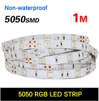 60 LED 5050 SMD RGB Rosso Verde Blu Bianco Bianco caldo 60 LED / Tester Flessibile LED Strip Light 12V Decorazione domestica LED Ribbon