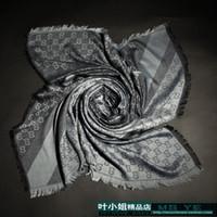lenço cinza venda por atacado-Venda de fábrica alta 2019 clássico cachecol de lã cashmere envoltório de seda das mulheres xale carta impressão lenços cinza 140x140 cm