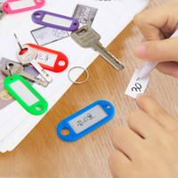numéros d'étiquettes en plastique achat en gros de-Cristal couleur transparent carte-clé plaque d'immatriculation porte-clés porte-clés en plastique bagage tag classification carte numéro cartes