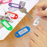 etiquetas de número de plástico al por mayor-Número de tarjeta de clave de color transparente de cristal clave de llavero anillo de plástico tarjeta de clasificación de equipaje tarjetas de número de tarjeta