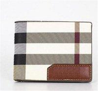 coole brieftaschen für männer großhandel-Neue designer handtaschen Vintage PU Herren Geldbörsen Fine Bifold Braun Schwarz PU Leder Kreditkarte Coole tri falten Brieftasche für männer Kostenlose Lieferung