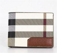 Wholesale wallets online - New designer handbags Vintage PU Mens Wallets Fine Bifold Brown Black PU Leather Credit Card Cool tri fold Wallet for men Free Delivery