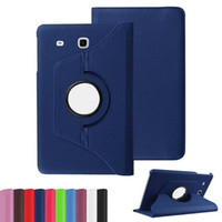 Wholesale galaxy s2 folio case - 360 Degree Rotating PU Leather Case Smart Cover For Samsung Galaxy Tab E 9.6 Inch T560 S2 8 inch T715 9.7inch T815