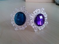 Wholesale Iron Napkin Rings - Purchase Mix Up Color Purple & Emerald Plastic Elegance Napkin Ring