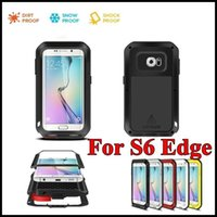 Wholesale love mei powerful - LOVE MEI Case Cover For S6 Mental Aluminum Waterproof Shockproof Dirtproof Powerful Phone Case for Samsung Galaxy S6 Edge G9250