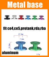 Wholesale Ce5 Base - Metal Base Atomizer Display Holder Atomizer Base Fit Ce4 Ce5 Protank Rda Rba Metal Display Holder Stand Organizer Aluminum I-shaped FJ153