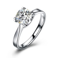 0,8 CT PRINCESS CUT SIMULATED DIAMOND STERLING Solid 925 SILBER ENGAGEMENT RING JEWELRY