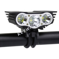 Wholesale Cree Led U2 Bike Light - SolarStorm Bike light Black Red 3x CREE U2 T6 LED Head Front Bicycle light HeadLight Headlamp outdoor Sport lamp