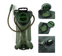 Wholesale Bicycle Water Bladder - Military Green 2L Food Grade TPU Sports Bicycle Water Bag Hydration Water Bladder Pouch for Outdoor Hiking Trekking Climbing
